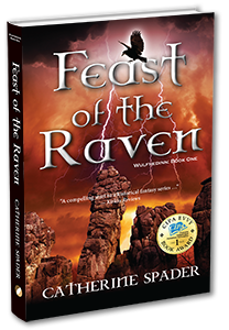 feast of the raven catherine spader book cover 3d